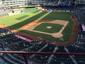 Globe Life Park, from our usual seats 2014 season